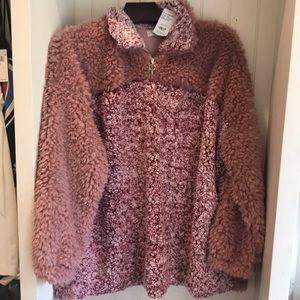 Weekend Suzanne Betro sweater zip mock elk
